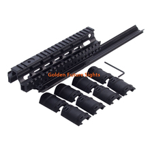 GFY0030 Saiga 12 Tactical Long Handguard Quad Rail System Free Black Rubber Guards
