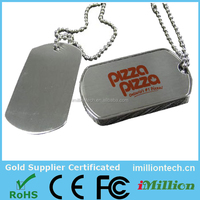 Alibaba Army Dog Tag Shape Usb Flash Drive,Custom Dog Tag Usb Pen Drive With Necklace