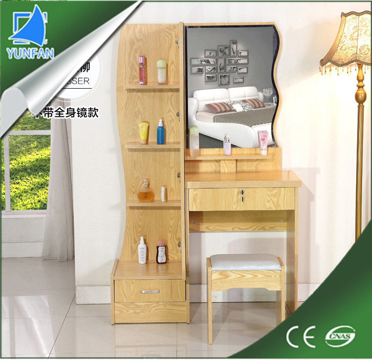 living room furniture mdf mirror furniture dressing table with mirror