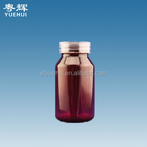 plastic pharmaceutical container / 135cc plastic pill bottle / colored screw cap medical jar