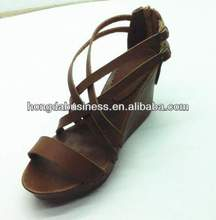 2014 fancy lady wedge heel sandal with an open toe