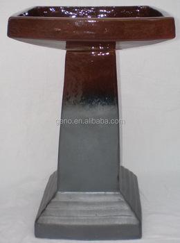 solar bird bath with silver black color for bird application