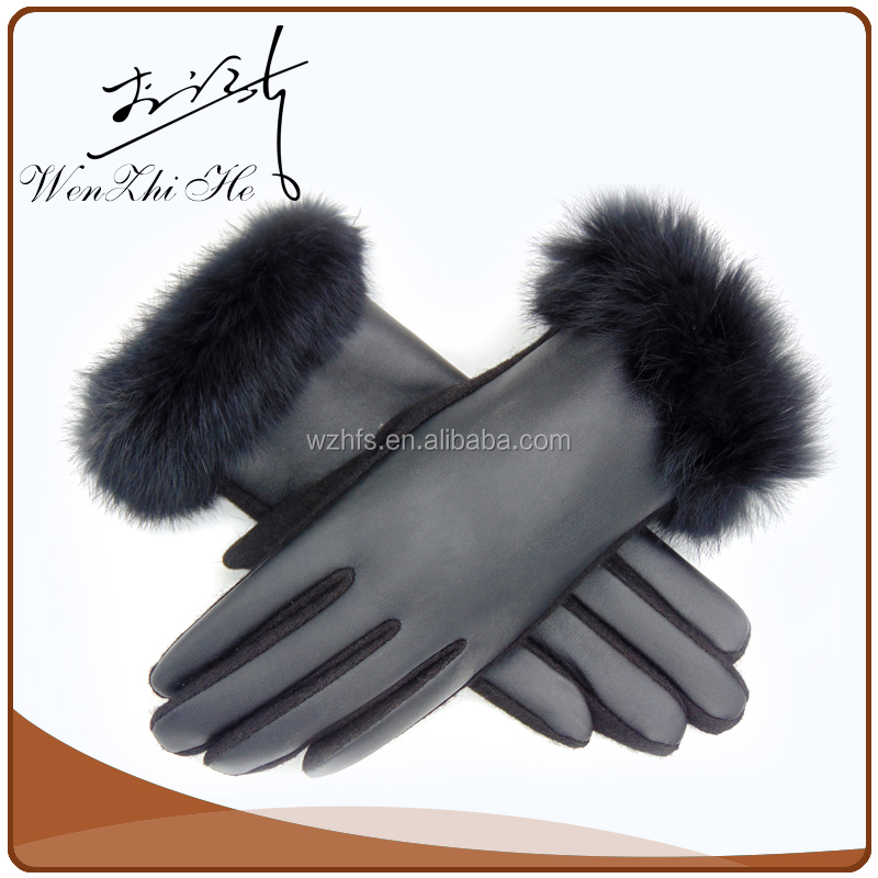 2016 Personalized Skull Design Gloves Sex Leather Factory