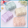 Rose Flower Plastic Leakproof Waterproof Handmade Soap case with Cover