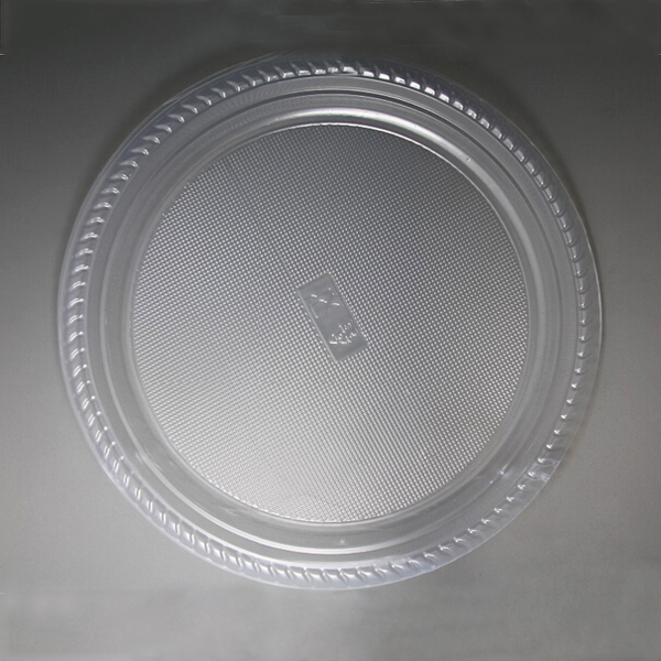 10'' Disposable Transparent Plastic Plate