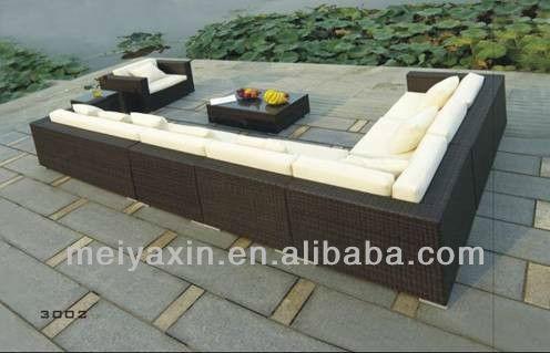 outdoor l shape sofa rattan garden furniture buy garden furnitureoutdoor artificial rattan furniturefibreglass garden furniture product on alibabacom