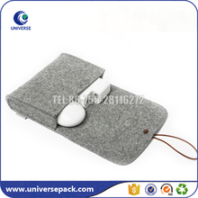 Customized order plain wool felt bags