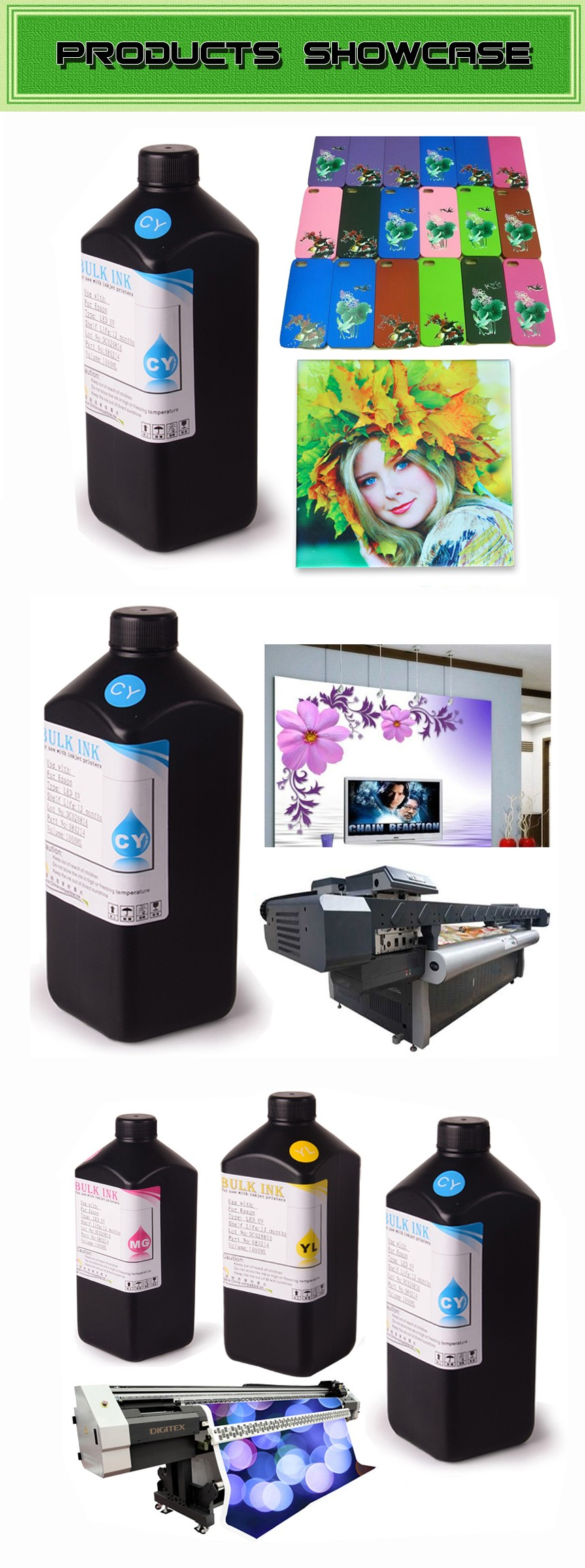 Ocbestjet Best Quality UV offset Printing Ink For Epson T50 RX595 RX580 RX380 R380 R260 R2000 Printer
