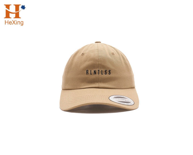 Custom Khaki Dad Hat For Sale/Promotion <strong>W</strong>/ Embroidery Logo