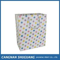 Most popular trendy style paper shopping packaging bag