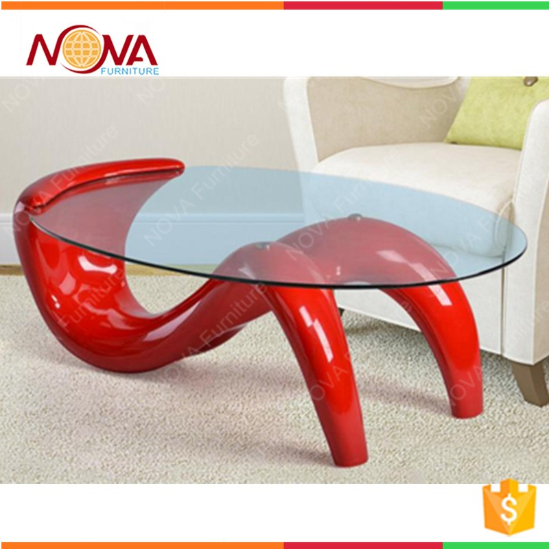 Home furniture wholesale cheap used oval stainless steel double S metal glass continental minimalist living room coffee table