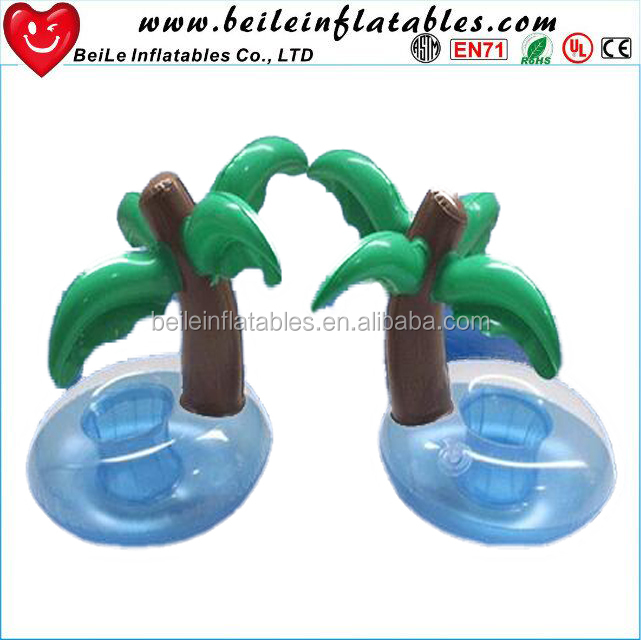 Summer new style wholesale small palm tree cooler pvc inflatable coconut tree ice bucket
