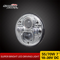Replacement Sealed Beam Black Chrome Motorcycle LED Headlight Harley