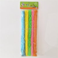 Factory supply DIY crafts jumbo loopy fuzzy pipe cleaners chenille stems toys for kids or wedding party decoration