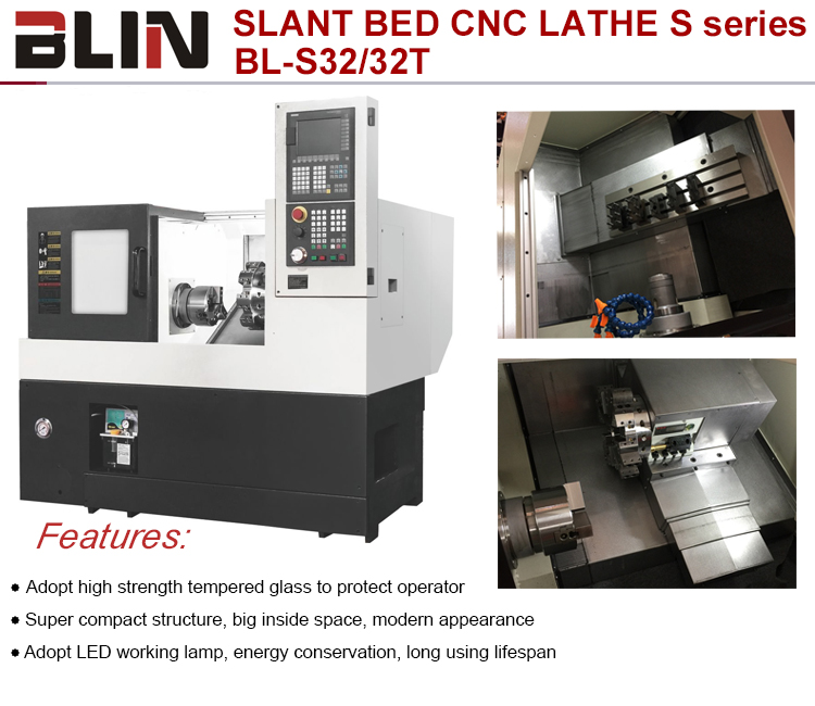 High Precision Slant Bed CNC Lathe with TAIWAN Technology Mini Slant Bed (BL-32T)