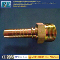 High class cnc machined copper/stainless steel water hose coupling