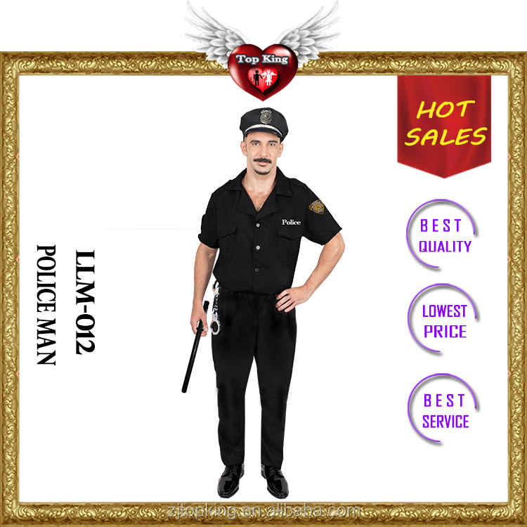 Top Selling Male Police Cosplay Uniform Carnival Police Man Costume for Man