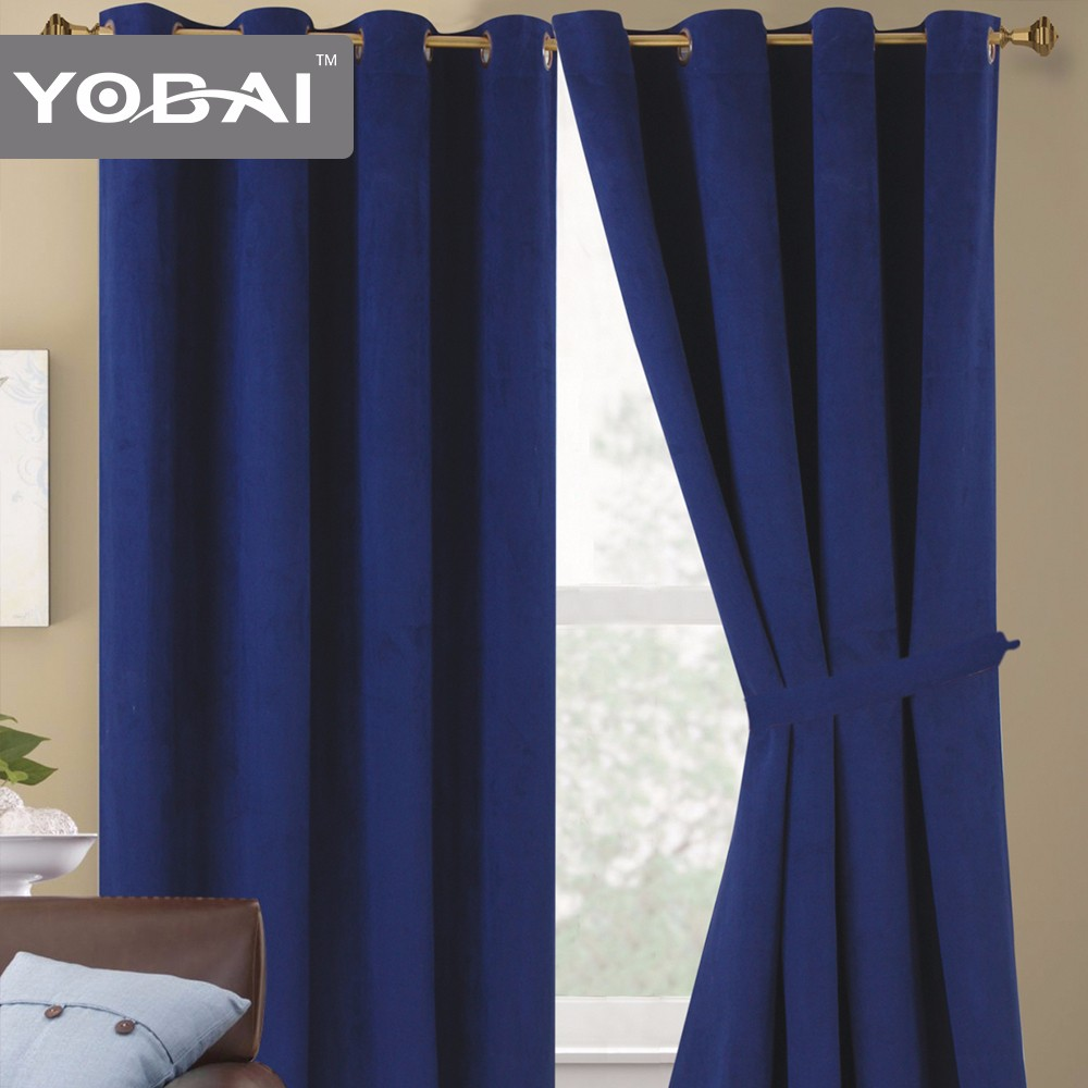 Luxury Hotel Modern Faux Suede Curtains