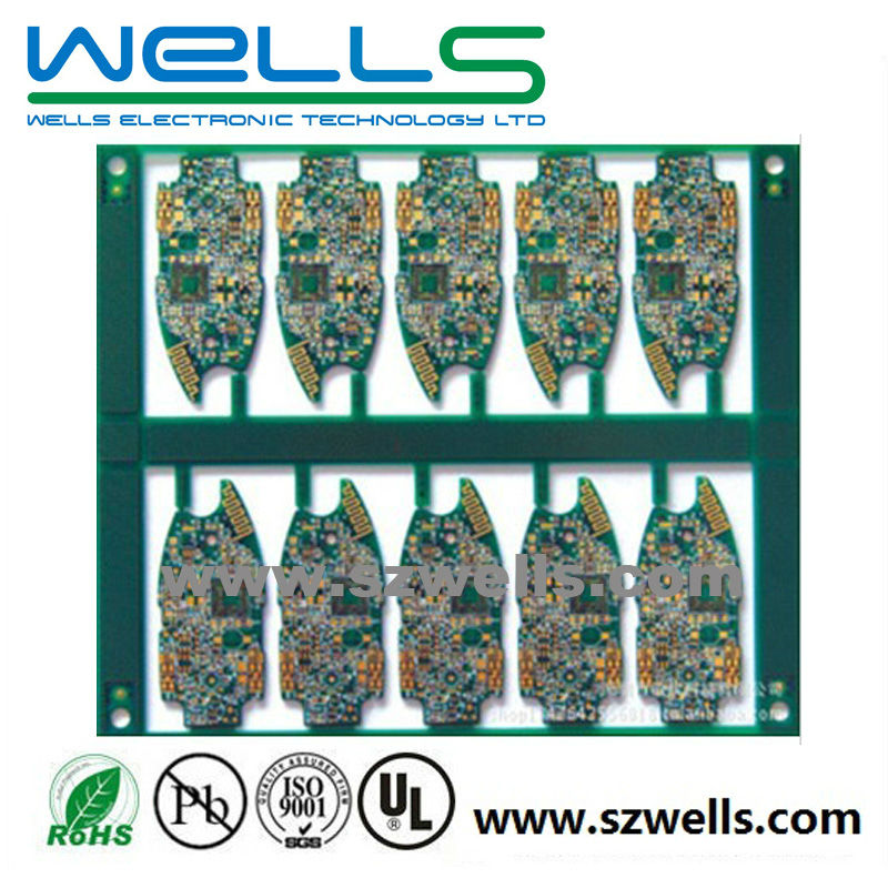 Cell phone PCB, PCB with BGA, Hard Gold Plating Finishing,