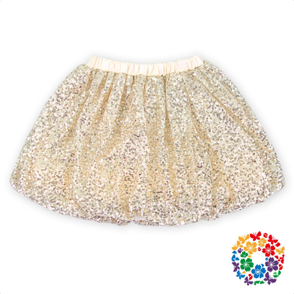 Fashion Champagne Color Tutu Skirt For Girl Kids Short Sequin Tulle Skirts Girls In Short Skirts On Sale In China