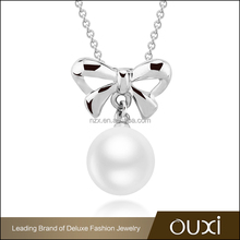 OUXI 2015 Gold plated jewelry indian pearl necklace designs 11283-1