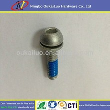 Dacromat Plated Stainless steel Hex Socket Nylon Lock Screw