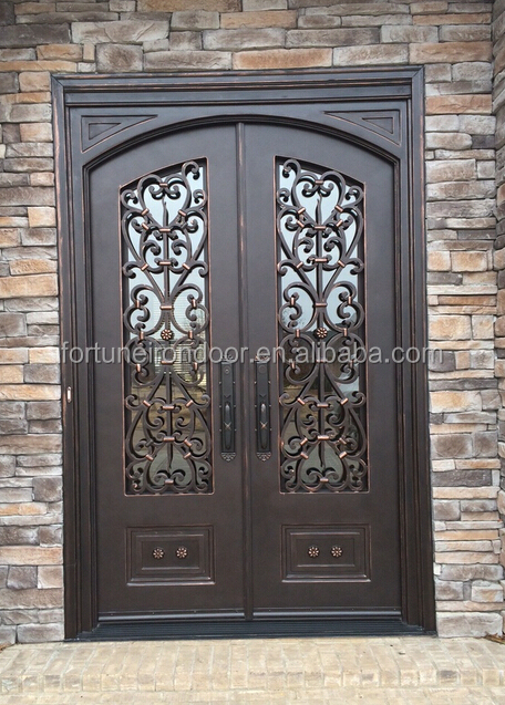 2016 arch top iron doors  Interior  entrance door designs iron grill door  for safety. 2016 arch top iron doors  Interior  entrance door designs iron