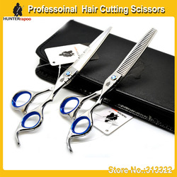 6.0 inch professional barber hair cutting scissors set for hairdresser using