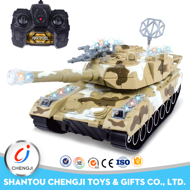 Newest battery operated plastic rc tank tracks with light and music