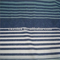 Black white striped satin fabric