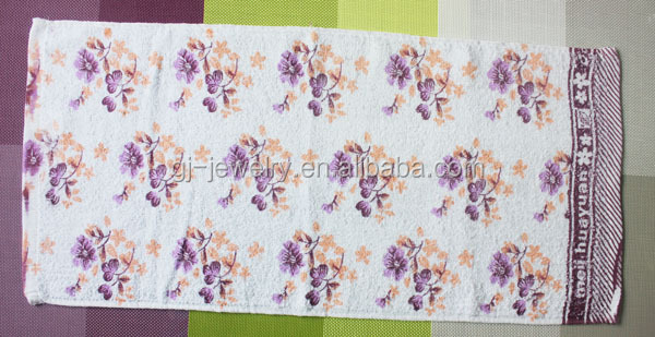 Promotional gift cotton fabric flower yoga towel