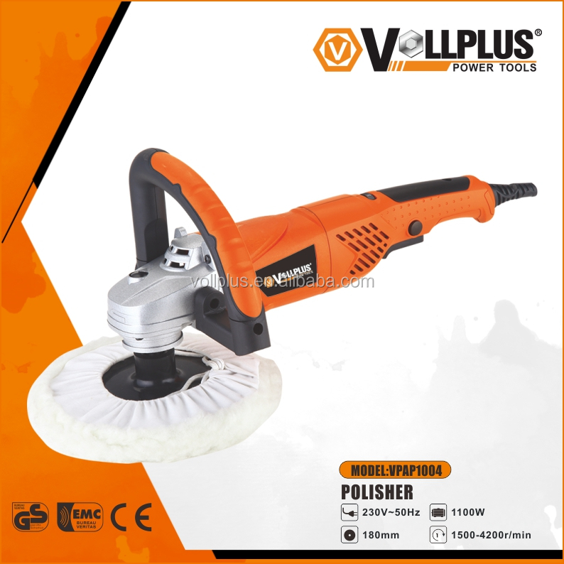 VOLLPLUS VPAP1004 180mm 1100W variable speed wool buffing pad car polisher
