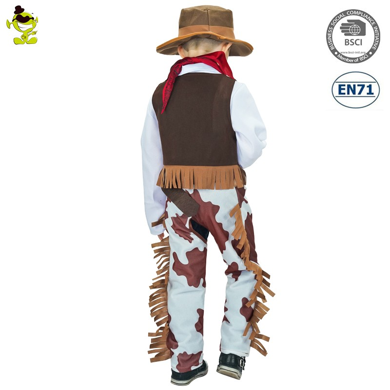 2017 kids cosplay cowboy costumes halloween costume for party
