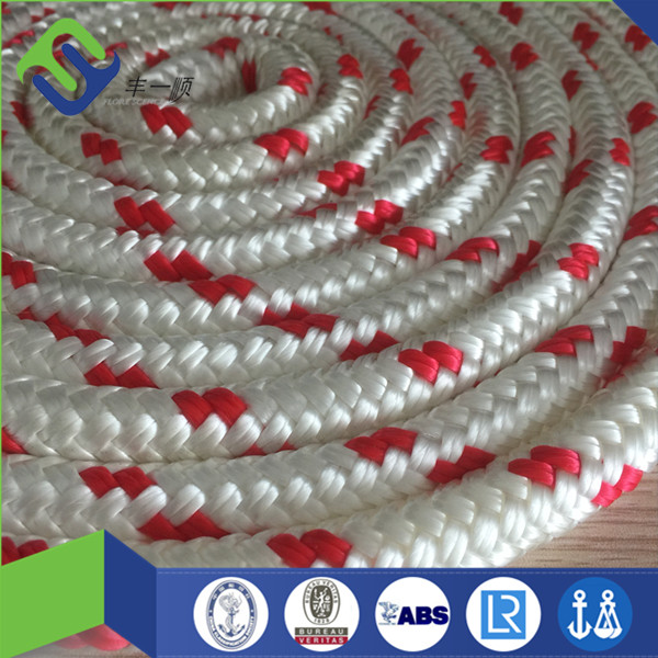 Double Layer Braided Polyamide Nylon Mooring Rope For Sale