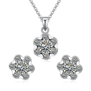 3b98ba91a90f Aliexpress Fashion Jewelry Set Pure Sterling Silver Jewelry Set Earrings And  Necklace Set