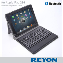 Premium New Wireless Bluetooth 3.0 ABS Keyboard Folio PU Leather Case Cover Magnetic Smart Stand for iPad 2 3 4