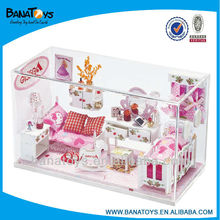 Christmas gift Beautiful princess toy wooden doll house with light