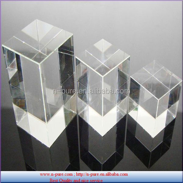Popular crystal cube K9 blank crystal block for 3D laser engraving