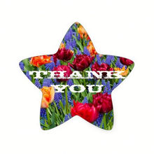 "Hot sale ""Thank You"" Colors of the Rainbow Star Sticker custom hologram sticker"