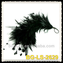 Navy Feather Hackle & Stripped Coque Mount