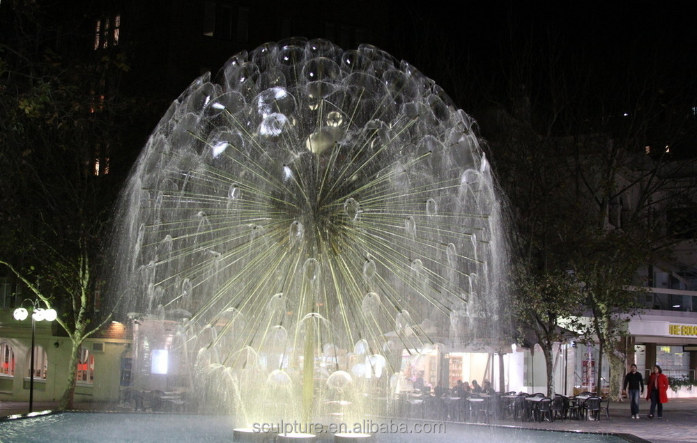 LED light Dandelion fountain with adjustive nozzle sculpture fountain