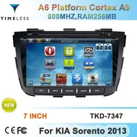 2 Din Touch scren car dvd radio player for KIA SORENTO 2013 year with gps, bluetooth, tv, ipod, usb, sd, 3g function