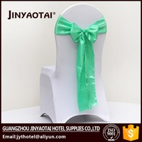 Fashionable design wholesale blush chiffon organza ruffled wedding chair cover sash with hood