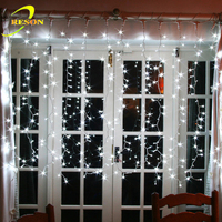 Waterproof Outdoor Decorating Icicle Led Curtain Lights For Wedding