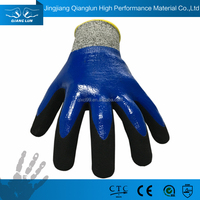 Cut level 5 double palm no cut mesh cutting work glove