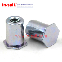 China hardware supplier fastening service stainless steel self clinching blind press nut manufucturer for sheet metal