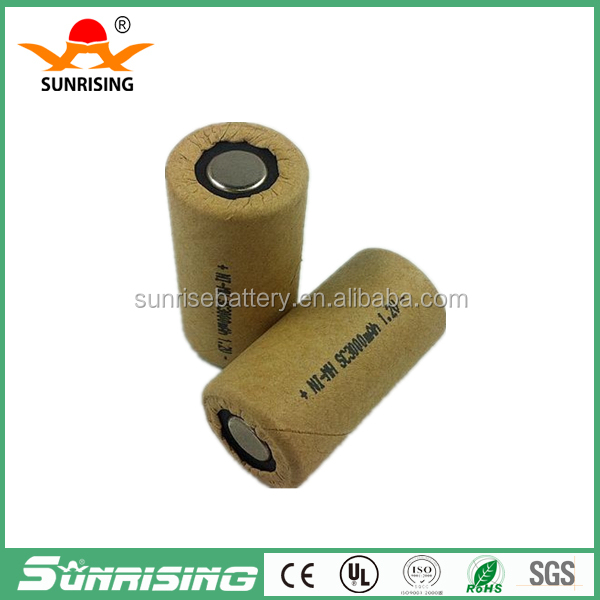 Sub C Ni-MH 3000mAh 3.0Ah rechargeable battery for power tools NIMH Sub C power tools battery 1.2V 10C Sub C battery
