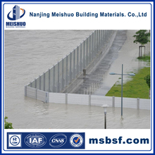 Modular Aluminum Stop Log for Flood Barrier System