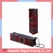 Shopping Industry Use and Custom Printed Paper Wine Bottle Bag
