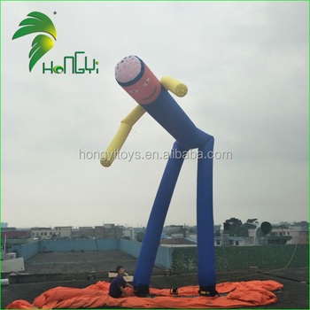 Outdoor Hot Selling Dancing Inflatable Advertising Man / Cheap Inflatable Advertisement Flying Air Man Dancer